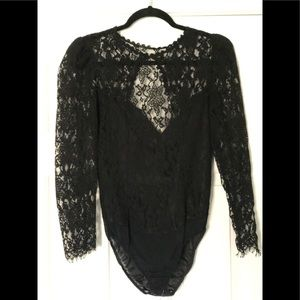 Vintage Christian Dior lace body suit